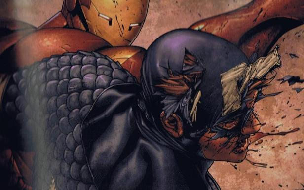 Marvel Iron Man punch Captain