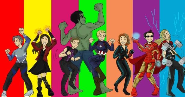 Avengers 2 dessin groupe