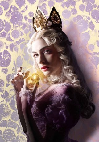 Anne Hathaway is the White Queen in Alice Through the Looking Glass.