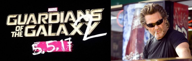 Gardiens de la galaxie logo Kurt Russell