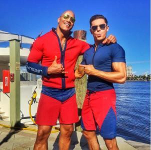 The Rock et Zac Efron
