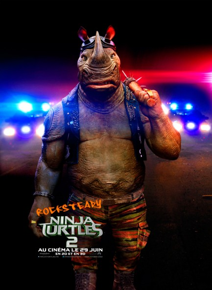 Ninja Turtles 2 poster Rocksteady