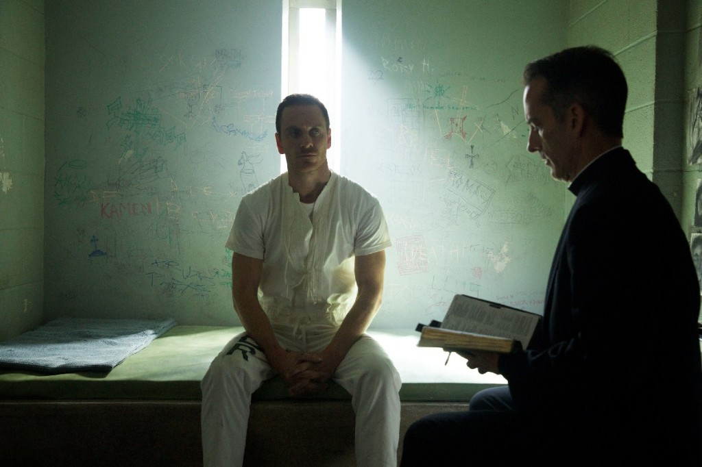 "DF-02748 – As he awaits his ""execution,"" Callum Lynch (Michael Fassbender) is as yet unaware of the incredible adventures that lie ahead for him. Photo Credit: Kerry Brown."