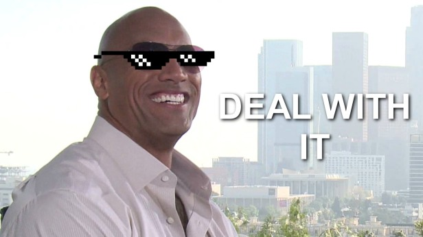Dwayne Johnson deal with it
